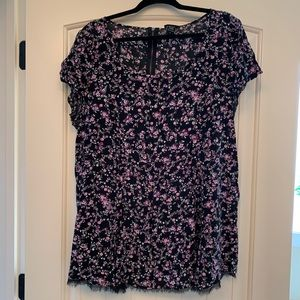 Torrid Black and Floral Blouse/Tunic Size 2